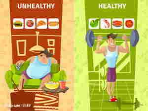 Stile di vita non salutare a confronto con stile di vita salutare su alimentazione e attività fisica